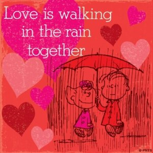 Love is walking...