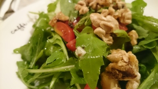 Green Apple Salad with rocket leaves, walnuts and blue cheese...