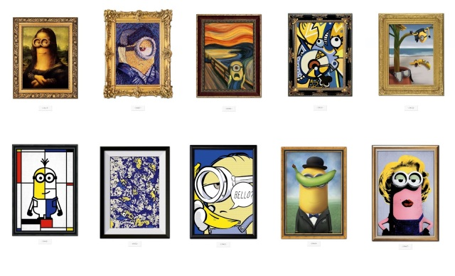 Minions Film Movie 2015 works of famous art