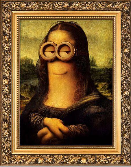 mona liza Minion