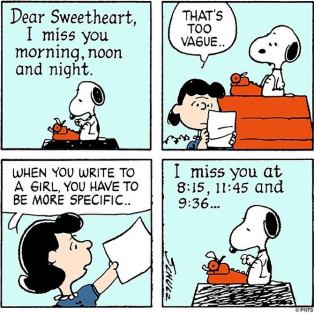 lucy and snoopy advice